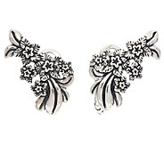 Carolyn Pollack Sterling Silver Desert Rose Ear Climber Earrings - J324185