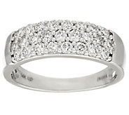 Milestone Wide Diamond Band Ring, 14K Gold, 1.00 cttw, by Affinity - J324585