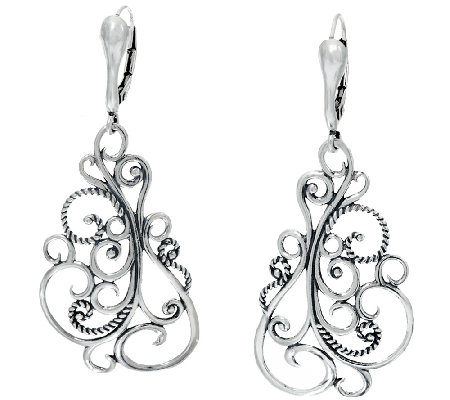 Carolyn pollack sterling silver signature lever back for Carolyn pollack jewelry qvc