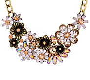 Joan Rivers Opalescent Floral Garden 18 Statement Necklace - J327785