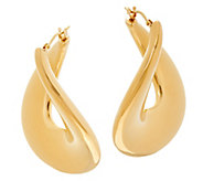 Oro Nuovo Bold Polished Flat Twist Hoop Earrings 14K - J328285