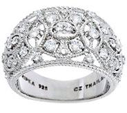 Judith Ripka Sterling 1/2 cttw Estate Diamonique Ring - J328785
