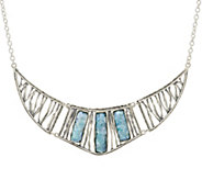 Sterling Silver Roman Glass Statement Necklace by Or Paz - J329385
