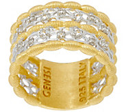 Genesi 18K Clad White Topaz Band Ring - J330185