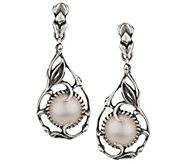 As Is Carolyn Pollack Coronation Mabe Pearl Sterling Earrings - J330885