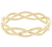As Is Oro Nuovo Polished Braided Round Slip-on Bangle Bracelet, 14K - J331785