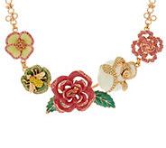 As Is Joan Rivers Enamel Rose Garden Statement Necklace - J333285