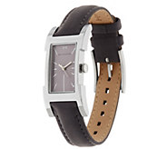 As Is H by Halston Suede Watch with Adjustable Strap - J333985