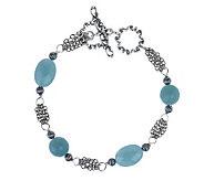 Carolyn Pollack Sterling Silver Wintergreen Bracelet - J336485