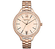 Caravelle New York Womens Rosetone Thin Bracelet Watch - J336585