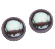 Honora Sterling 9.0mm - 9.5mm Cultured Pearl Button Earrings - J336685