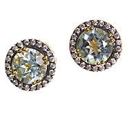 Graziela Gems Gemstone Stud Earrings, Sterling/18K Yellow - J337085