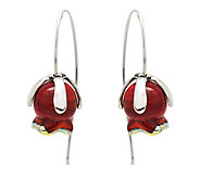 Kalos by Hagit Sterling Pomegranate Glass Flower Earrings - J337285