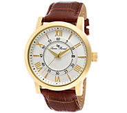 Lucien Piccard Stockhorn Mens Brown Leather Watch - J339085