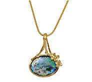 Sterling 14K-Plated Roman Glass Pendant, 18L Chain by Or Paz - J339485