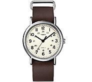 Timex Unisex Weekender Brown Slip Through StrapWatch - J339685