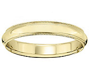 18K Gold 4mm Milgrain Comfort Fit Wedding BandRing - J340285