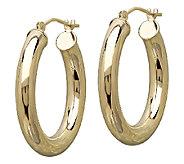 EternaGold 2 Polished Tube Hoop Earrings, 14KGold - J340485