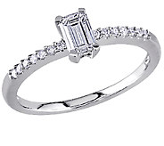 Emerald-Cut Diamond Ring, 14K White Gold by Affinity - J340885