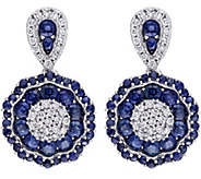 1.90 cttw Sapphire & 1/4 cttw Diamond Dangle Earrings, 14K - J344085