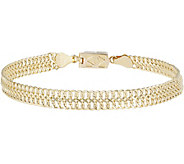Click Secure 8 Woven Link Bracelet 14K Gold 4.0g - J345685