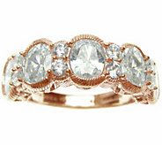 Judith Ripka 14K Rose Gold Clad & Diamonique Ring - J345785