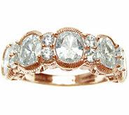 Judith Ripka 14K Rose Gold Clad & Diamonique Ring - J345785
