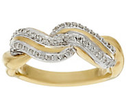As Is 14K Gold Polished Swirl Design 1/5 cttw Diamond Ring - J347385