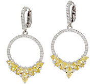 Judith Ripka Sterling Canary Diamonique Front Facing Hoop Earring - J347785