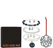 Alex and Ani Set of 3 Peace Bangles & Ornament - J351885