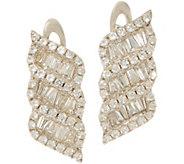 Diamonique Baguette Swirl Drop Earrings, Sterling - J353785