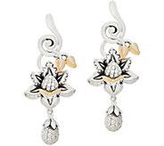 Barbara Bixby Sterling Silver & 18K Gemstone Lotus Earrings - J354285