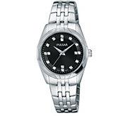 Pulsar Womens Stainless Steel Bracelet Watch - J376385