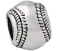 Prerogatives Sterling Baseball Bead - J110186