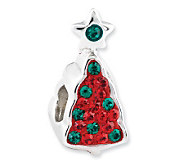 Prerogatives Sterling Crystal Christmas Tree with Star Bead - J113286