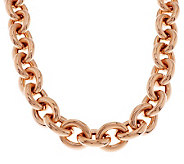 Bronze 18 Status Rolo Link Magnetic Necklace by Bronzo Italia - J274586