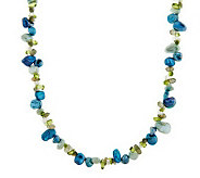 Honora Cultured Pearl Keshi & Gemstone 20 Sterling Necklace - J277186