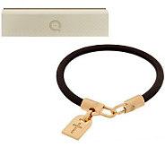 Bronzo Italia Yellow Bronze Symbol Tag Leather Bracelet - J285186