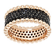 Bronzo Italia Gemstone Bead Border Eternity Band Ring - J291886