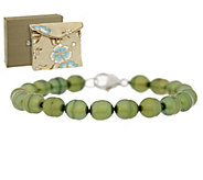 Honora Cultured Pearl 6.0mm Stering 6-3/4 Bracelet - J294086