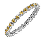 Simply Stacks Sterling Prong-Set Citrine Stackable Ring - J298686