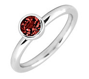 Simply Stacks Sterling 5mm Round Garnet Solitaire Ring - J298786