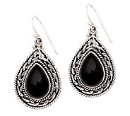 Novica Artisan Crafted Sterling Palace Onyx Drop Earrings - J308186
