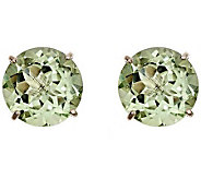 Sterling Round 8.00 cttw Quartz Gemstone Stud Earrings - J308786