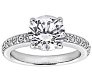 Diamonique 2.25 cttw Solitaire Ring,Platinum Clad - J309786