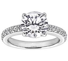 Epiphany Diamonique 2.25 ct tw Solitaire Ring