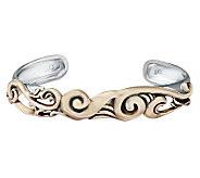 Carolyn Pollack Harmony Silver & Brass Large Cu ff Bracelet - J313086