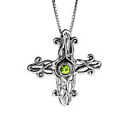 Hagit Gorali Sterling Gemstone Cross Pendant - J314286