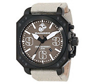 Wrist Armor Mens Aircraft Watch, Beige Strap and Tan Dial - J315486
