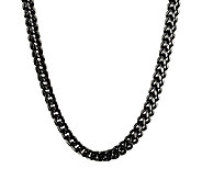 Black Ion-Plated Stainless Steel Foxtail ChainNecklace, 22 - J316786